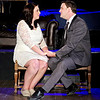 "Mark Maynard | for The Herald Bulletin<br /> Jamie (Daniel Erwin) proposes marriage to Cathie (Erynn Hensely) in The Commons Theatre's presentation of ""The Last 5 Years."""