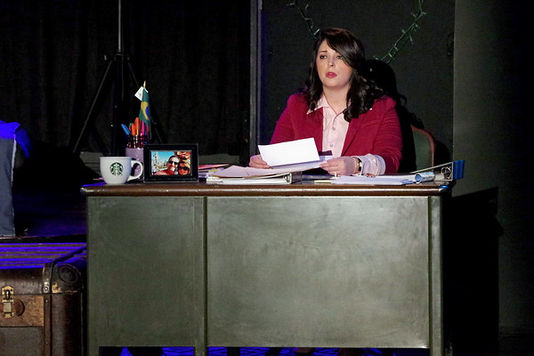"Mark Maynard | for The Herald Bulletin<br /> Cathie Hiatt (Erynn Hensely) laments the end of her marriage as she sings ""Still Hurting"" in The Commons Theatre's production of ""The Last 5 Years."""