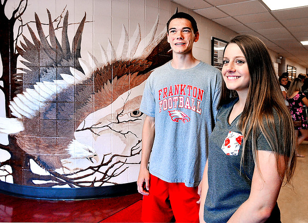 John P. Cleary |  The Herald Bulletin<br /> Levi Cain and Madelynn Baker are co-valedictorians of the Frankton Jr-Sr High School class 0f 2017.