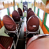 John P. Cleary |  The Herald Bulletin<br /> This is the interior of one of the world's first commercial transportation aircraft built in the 1920's. The Ford Tri Motor will be available for rides over the weekend at the Anderson Municipal Airport.