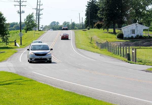 Don Knight | The Herald Bulletin<br /> Traffic passes the intersection of Indiana 38 and County Road 150 West on Wednesday.