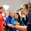 Don Knight | For The Herald Bulletin<br /> Teachers look at a clue as they experience how they can use Breakout EDU in their classroom during the eLEAD conference at Anderson University on Tuesday.
