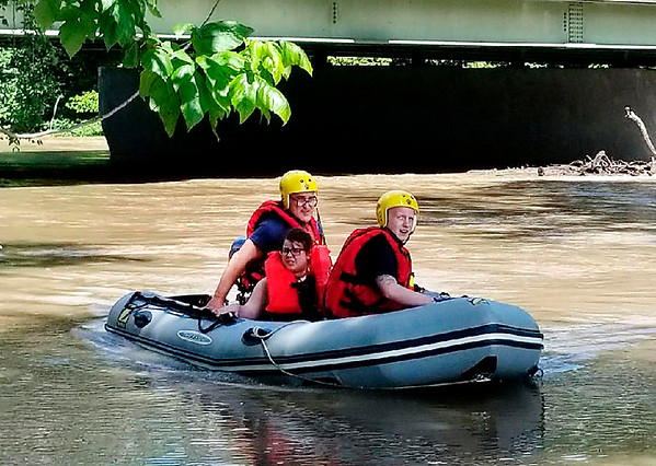 Submitted photo<br /> AFD water rescue on the White River next to the Madison Avenue bridge on Saturday.