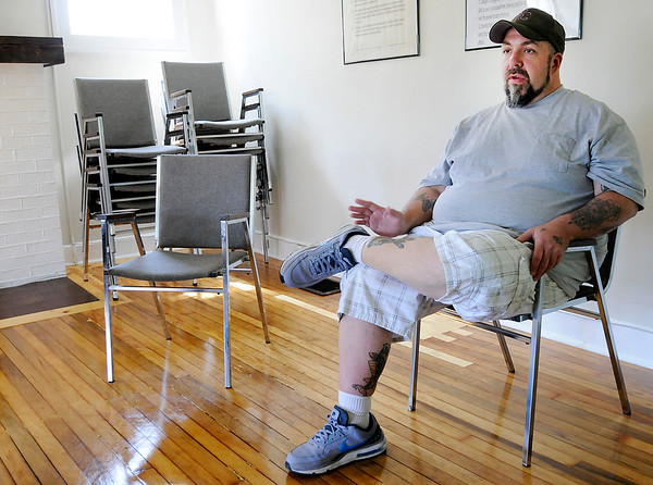 Don Knight   The Herald Bulletin<br /> Billy Riggs talks about his experience living at the Exodus House. Community Hospital is offering to match donations up to $5,000 in a summer fundraiser for the Exodus House.