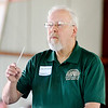 John P. Cleary |  The Herald Bulletin<br /> Music Director John Richardson conducts the Zionsville Concert Band during their performance at the Alexandria Community Band Festival Saturday.