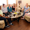 Don Knight | The Herald Bulletin<br /> House of Shifra residents from left, Gloria Woods, Samantha Parmley, Kristen Jones, Elysia Carr, Kimberly Key and Briannah Davis sit together and talk last Thursday.