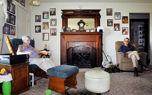 John P. Cleary |  The Herald Bulletin<br /> Barbara and Fred Freeman relax in their living room as they talk about being foster parents for more then 50 years.