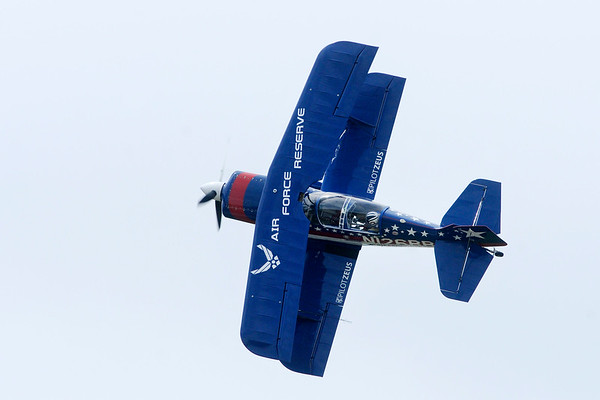 Don Knight | For The Herald Bulletin<br /> Billy Werth performs during Aviation Days at the Anderson Municipal Airport on Saturday.