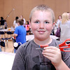 "Don Knight | The Herald Bulletin<br /> Jarrett Cole created scissors with a laser guide he calls ""The Straight Cutter"" for the Invention Convention at Frankton Elementary on Tuesday."