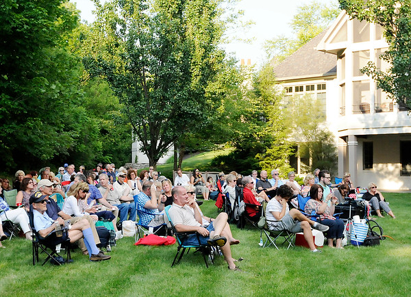 Don Knight   The Herald Bulletin<br /> About 100 people brought their lawn chairs to the home of Jay and Nancy Ricker for a night of jazz music by The Campbell Jazz Continuum in a benefit  concert for the Anderson Symphony Orchestra on Thursday.