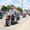 Don Knight | The Herald Bulletin<br /> Bikers leave Las Maria's for the Madison County Making a Stand Against Heroin Benefit Ride on Saturday. Proceeds from the ride were given to Vickie Horton to help cover her daughter Carissa's funeral expenses.