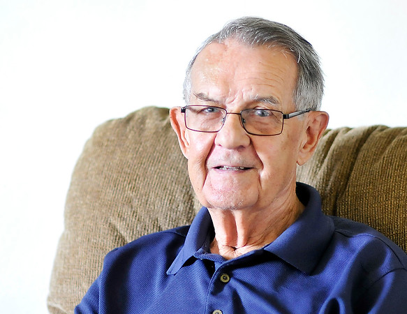 John P. Cleary    The Herald Bulletin<br /> Fred Freeman talks about being a foster parent for more then 50 years. Fred and his wife Barbara age giving it up at the end of June.