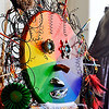 John P. Cleary |  The Herald Bulletin<br /> Abstract Annie, a sculpture the Pendleton Artists Society created, with some of the details of her head.