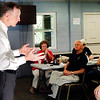 Photo by Stu<br /> John Pistole spoke at the Madison County Tea Party meeting Thursday evening.