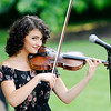 Don Knight | The Herald Bulletin<br /> Emma Campbell plays the violin as The Campbell Jazz Continuum plays an outdoor concert to benefit the Anderson Symphony Orchestra on Thursday. This is the seventh year for the benefit concert.