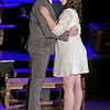 "Mark Maynard | for The Herald Bulletin<br /> Jamie (Daniel Erwin) and Cathie (Erynn Hensely) kiss as she accepts his marriage proposal in ""The Last 5 Years."""