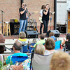 John P. Cleary |  The Herald Bulletin <br /> Cook & Belle perform Friday evening at Dickmann Town Center as part of the Summer Concert Series presented by the city of Anderson's Parks and Recreation Department.