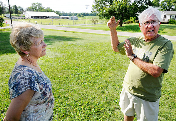 Don Knight | The Herald Bulletin<br /> Harry and Linda McVey talk about the accidents they have seen living at the intersection of Indiana 38 and County Road 150 West.