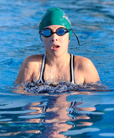 Don Knight | The Herald Bulletin<br /> The Pendleton Swim Club's Emily Moore competes in the 200 meter individual medley during the Club's Stars and Stripes Swim Invite on Friday.