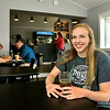 "John P. Cleary | The Herald Bulletin <br /> National Merit scholar Carleigh ""C.J."" Hill did a lot of her studying at Jackrabbit Coffee."
