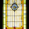 Don Knight | The Herald Bulletin<br /> This is one of several stained glass windows moved from the Church of the Brethren's former location that was destroyed by fire in 1972 to their new buidling on Scatterfield Road. The church will be celebrating their 125th Anniversary this month.