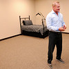 Don Knight | The Herald Bulletin<br /> Healing Hands owner Tim Paul talks about his company's philosophy as he stands in a simulated apartment including a bath, bed and full kitchen where patients will learn the best ways to avoid injuries as they go back to their daily life.