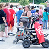 Don Knight | The Herald Bulletin<br /> Indiana DNR had their remote control ATV rider Safety Sam at the annual Community Safety Fair organized by the Children's Bureau at Anderson High School on Wednesday. DNR uses the robot rider to educate the public about ATV safety.