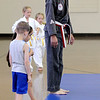 Don Knight | The Herald Bulletin<br /> Randy McVay gives new students instructions for stepping on to the mat during karate class at the Mill Creek Civic Center in Chesterfield.