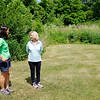 Don Knight | The Herald Bulletin<br /> Executive Director at the Red Tail Land Conservancy Julie Borgmann and Sheryl Myers talk about a conservation easement along the White River at Grandview Golf Course.