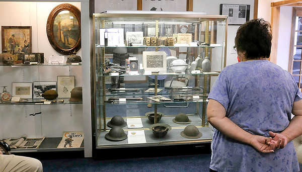 John P. Cleary | The Herald Bulletin <br /> Madison County Historical Society's World War I exhibit.