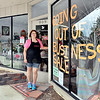 John P. Cleary | The Herald Bulletin <br /> Shari Collins, manager of the Posy Shop, out front of the shop where they are closing after 70 years in business.