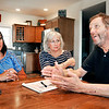 John P. Cleary | The Herald Bulletin<br /> Caitlin McGuire, Connie Samuels, and John Guion plan for this years Miles for Myeloma Golf Outing which will be August 24th this year. Caitlin's father, Fred McGuire, Connie, and John all suffer from multiple myeloma.