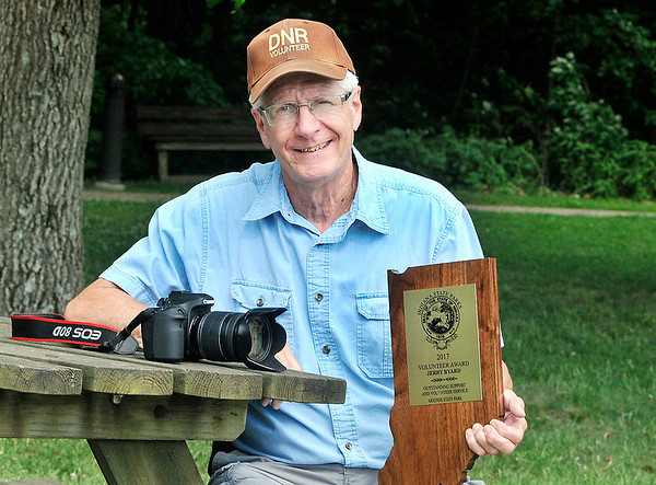John P. Cleary | The Herald Bulletin<br /> Jerry Byard was named Volunteer of the Year by the DNR for his efforts through his photography at Mounds State Park.
