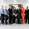 Don Knight | The Herald Bulletin<br /> APD swore in nine new police officers on Tuesday at the City Building. From left are Police Chief Tony Watters, Dillon Armstrong, Jacob Beasley, Jacob Clegg, John Gaw, Kayla Gilley, Austyn Hughes, Joshua Owens, Tyray Wilson, Taylor Sanderson and Mayor Thomas Broderick Jr.
