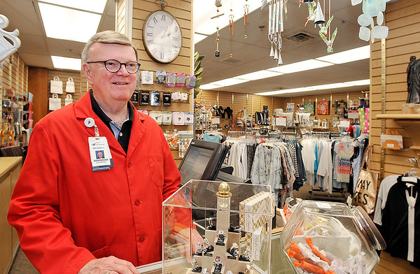John P. Cleary | The Herald Bulletin<br /> Michael Litten is a St. Vincent Anderson volunteer that works in the Hospital's gift shop.