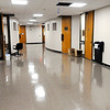 Don Knight | The Herald Bulletin<br /> The carpeting in the fourth floor hallway has been replaced with vinyl tile. courts will be moving back into the third and fourth floors of the courthouse starting next week.