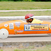 Don Knight | The Herald Bulletin<br /> Montez Powell steers his car down the track at Derby Downs during the Soapbox Derby on Saturday.