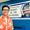 John P. Cleary | The Herald Bulletin<br /> Aaron Litherland is the valedictorian of the 2018 class of Elwood High School.