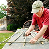 Don Knight | The Herald Bulletin<br /> Greg Adams makes a trellis from willow during Anderson's Inaugural First Friday Art Walk. Adams has a shop in Lapel where he sells his willow creations.