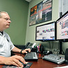 John P. Cleary | The Herald Bulletin<br /> Todd Harmeson, Public Information Officer for Madison County Emergency Management, uses social media as part of his tools to get important information out to the public.