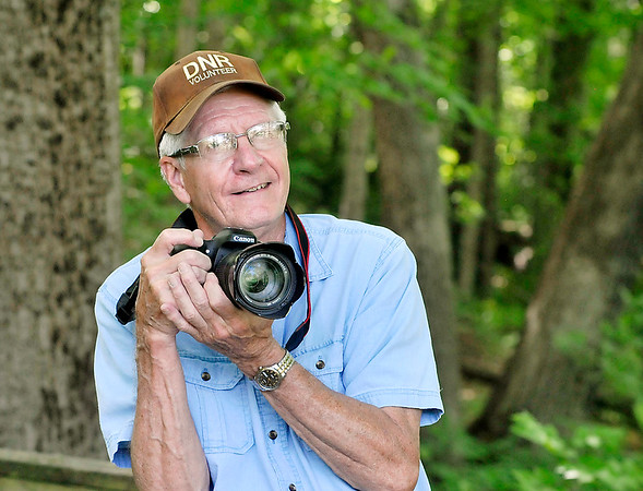 John P. Cleary   The Herald Bulletin<br /> Jerry Byard was named Volunteer of the Year by the DNR for his efforts through his photography at Mounds State Park.
