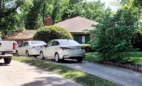 John P. Cleary | The Herald Bulletin<br /> House in the 1900 block of West Tenth Street where a 3-year-old girl who was found unresponsive Sunday inside a car.