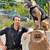 John P. Cleary | The Herald Bulletin <br /> Daleville Police officer Justin Melnick and K9 companion Dita, appear on the TV show, SEAL Team.