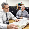 John P. Cleary | The Herald Bulletin  <br /> Madison County Deputy Prosecutor Grey Chandler and Chief Deputy Prosecutor Steve Koester work together in the prosecutor's office.