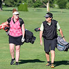 John P. Cleary | The Herald Bulletin<br /> Katie Copeland and her father Bob Windlan enjoy their time playing golf together, here coming up the 18th fairway at Grandview Golf Course.