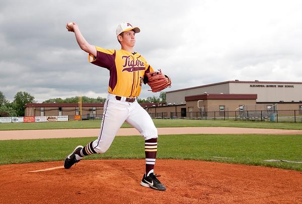 Don Knight | The Herald Bulletin<br /> Baseball players of the year, Alexandria's Trey Stokes and Brennan Moorehead.