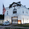 Don Knight | The Herald Bulletin<br /> Tim Perry is turning the former fire station on third street into a business office.