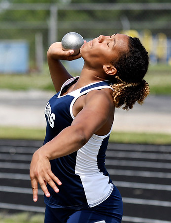 John P. Cleary | The Herald Bulletin<br /> Erikka Hill of Shenandoah HS, THB's Girls Track Athlete of the Year.