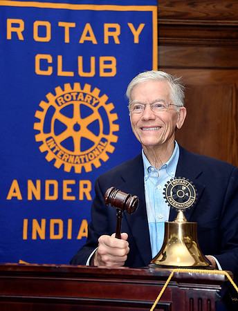 John P. Cleary | The Herald Bulletin Charles Shumate, upcoming Rotary district president.