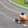 Don Knight | The Herald Bulletin<br /> Montez Powell races in the Super Stock division during the Anderson Soap Box Derby on Saturday.